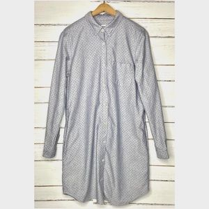 Steven Alan Polka Dot Shirt Dress L